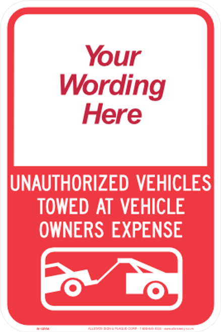 Partial Custom Towing Sign
