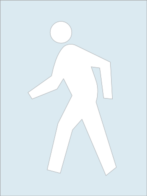 Pedestrian Crossing Stencil