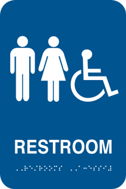Restroom Braille Sign