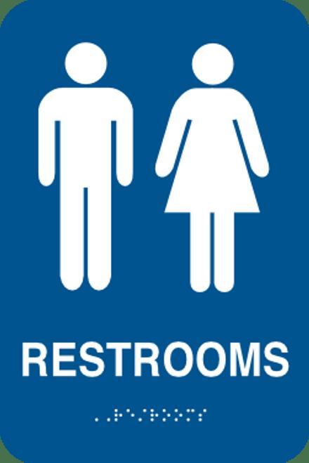 Restrooms Braille