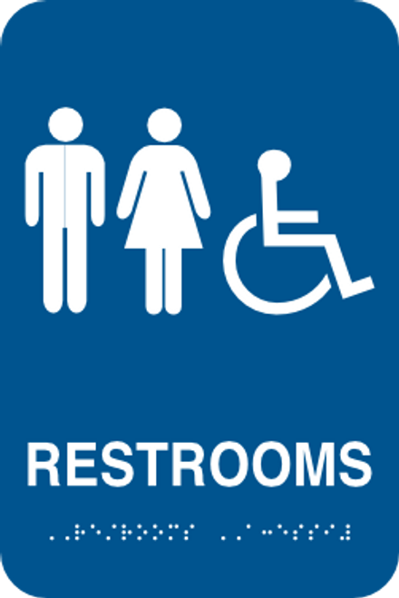 Restrooms Accessible Braille