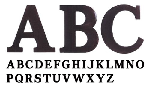 Roman Plastic Letters