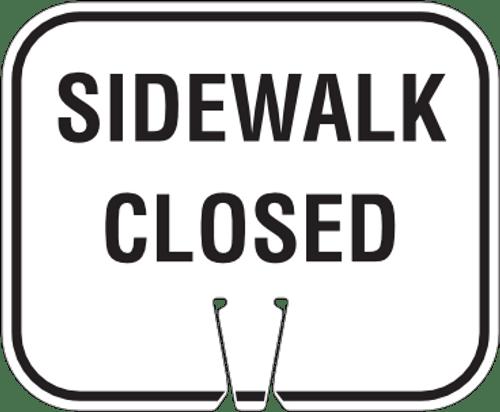 Sidewalk Closed Sign for Traffic Cone