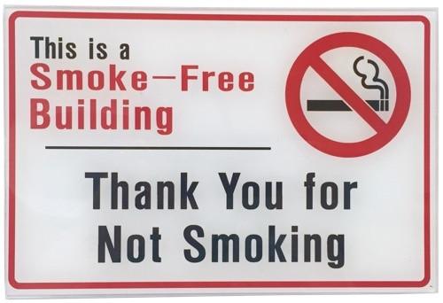Smoke Free Building Plexi Sign