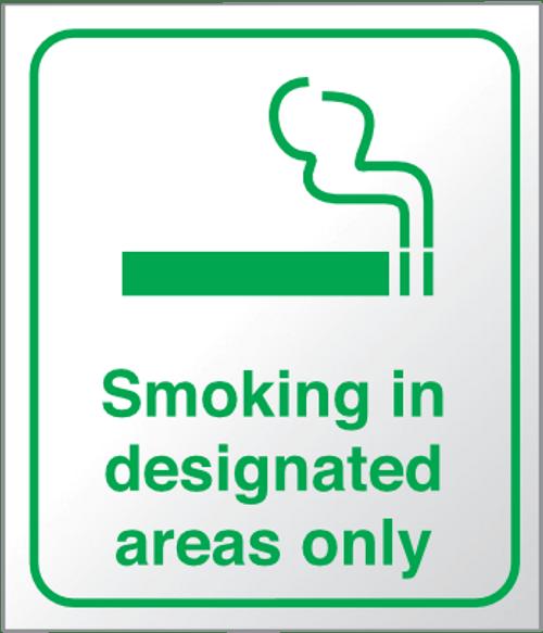 Smoke in designated areas