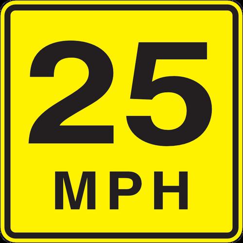 Speed Advisory Sign