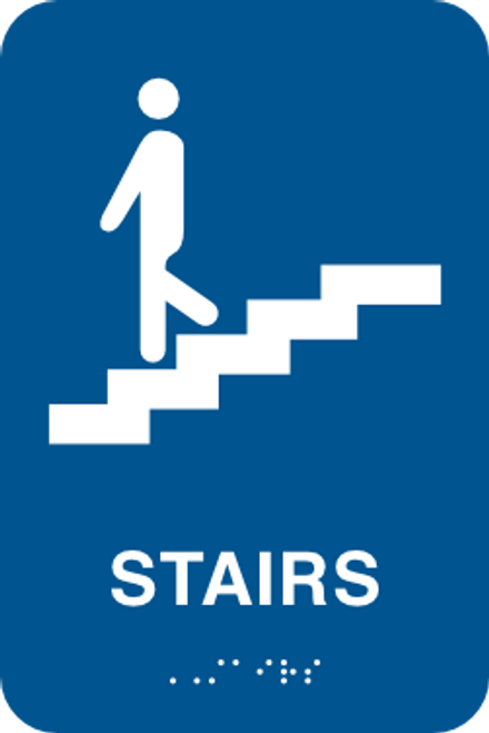 Stairs - Braille Sign