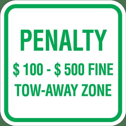 Virginia Handicap Penalty Sign