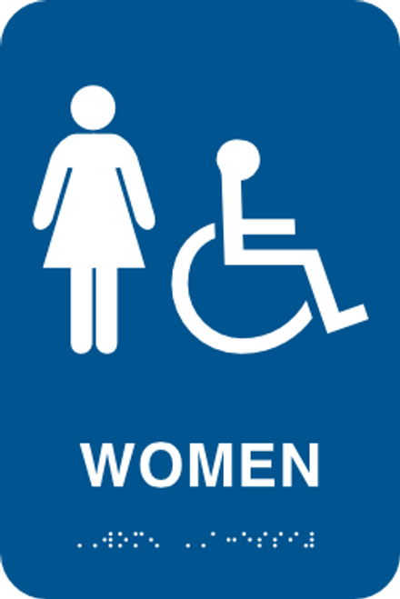 ADA Women's Restroom Sign with Braille
