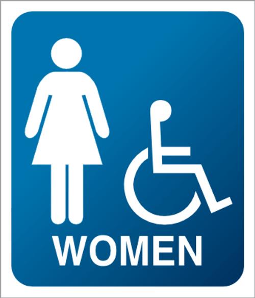Women - Accessible - Plexi Sign