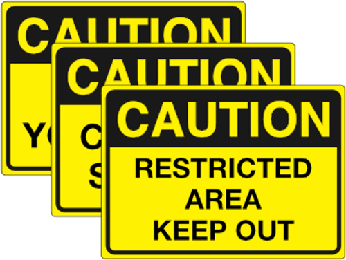 Cautions Signs