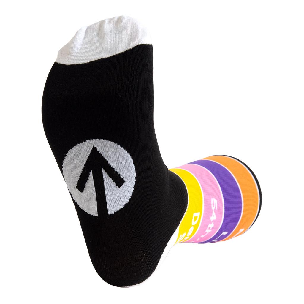 Train Line Dress Socks