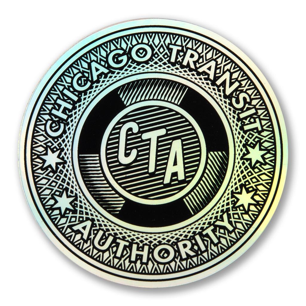 Transit Token Holographic Sticker