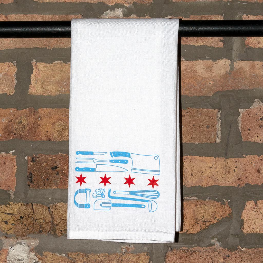 Chef Flag Flour Sack Towel