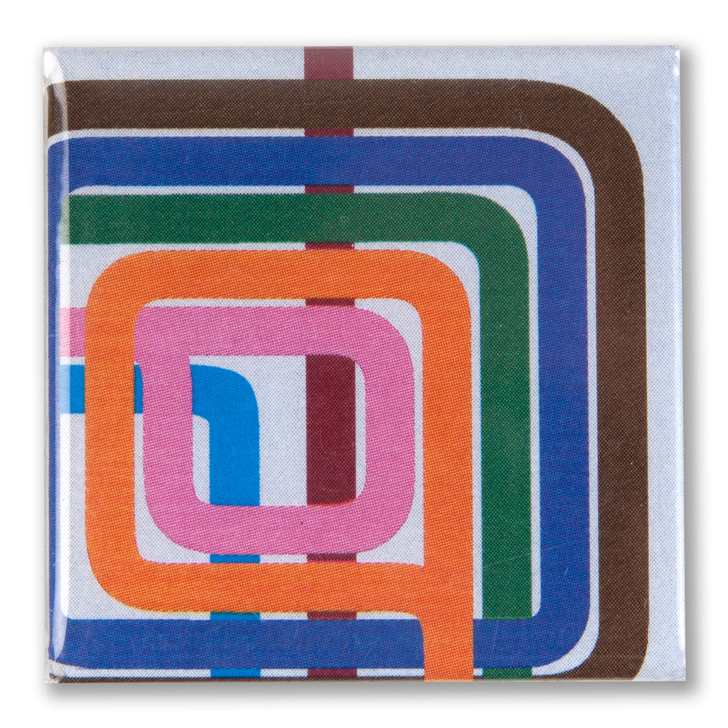 Loop Stripe Square Magnet