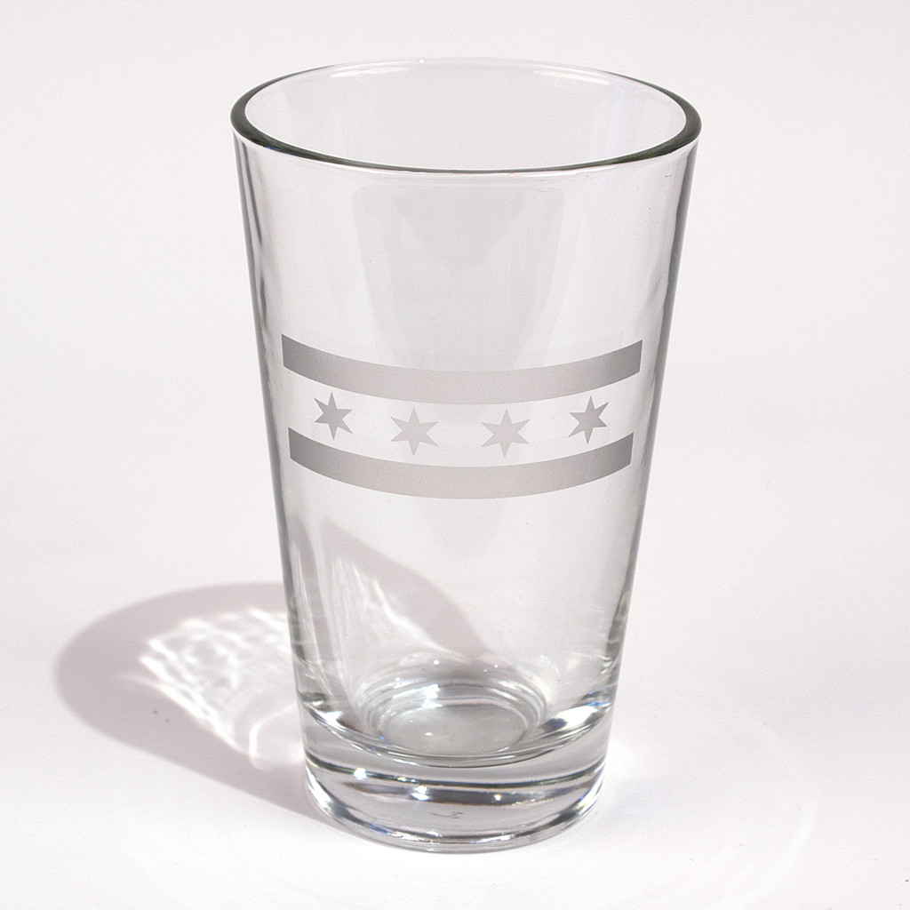 Chicago Flag Pint Glass