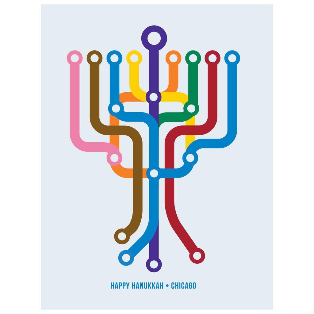 Happy Hanukkah Chicago Greeting Card