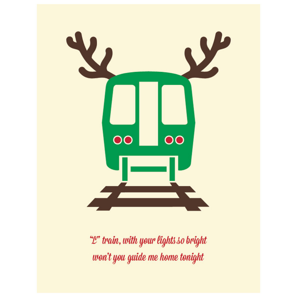 Guided Train - Greeting Card