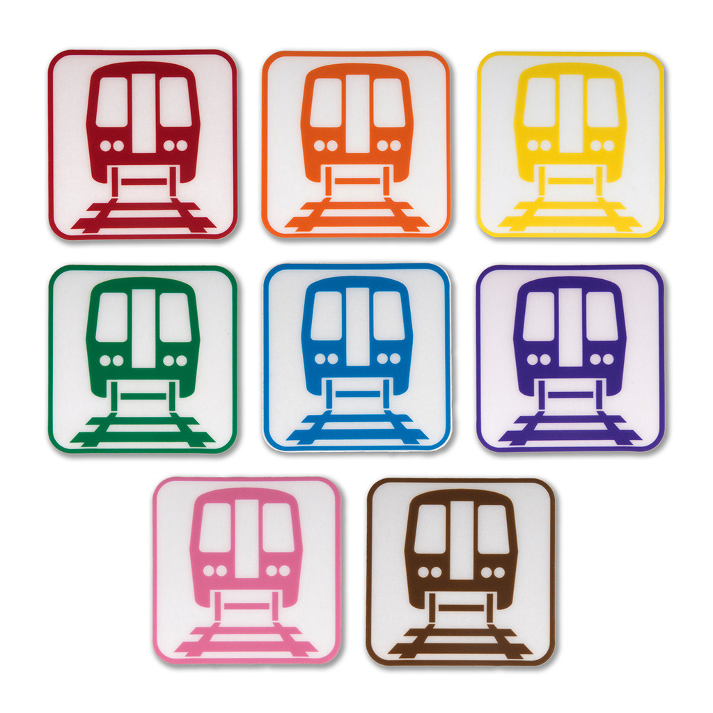 Chicago 'L' Icon Stickers - 8 Pack