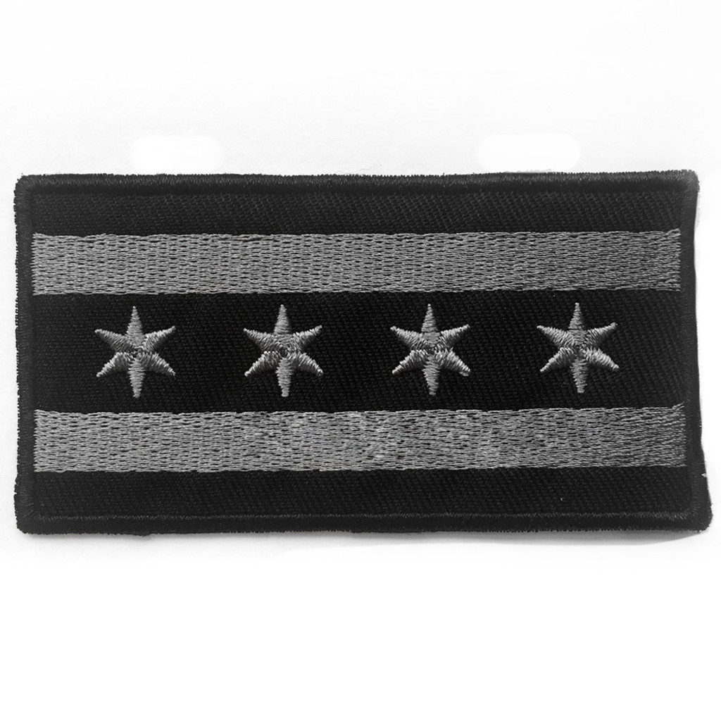 Black Chicago Flag Patch