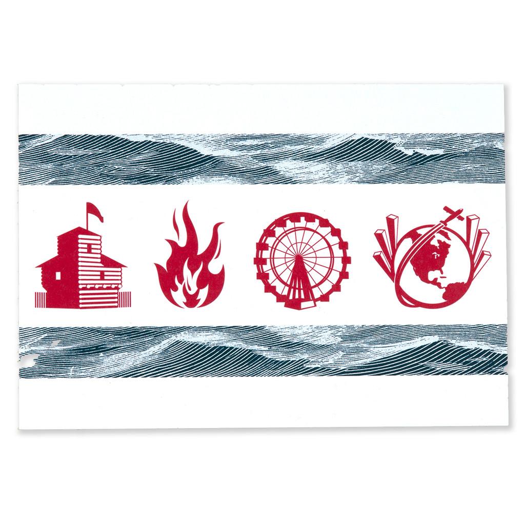 Chicago Legacy Flag Postcard