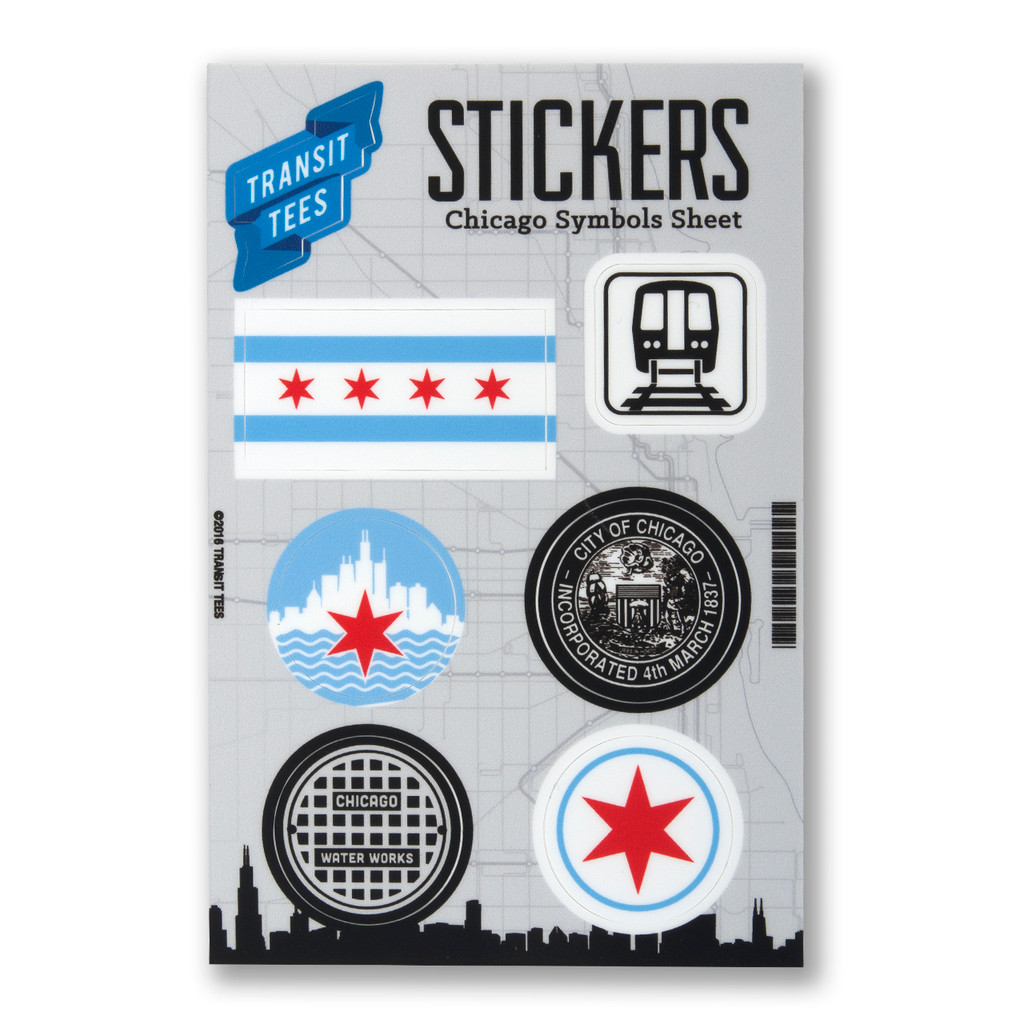 Chicago Symbols Sticker Sheet