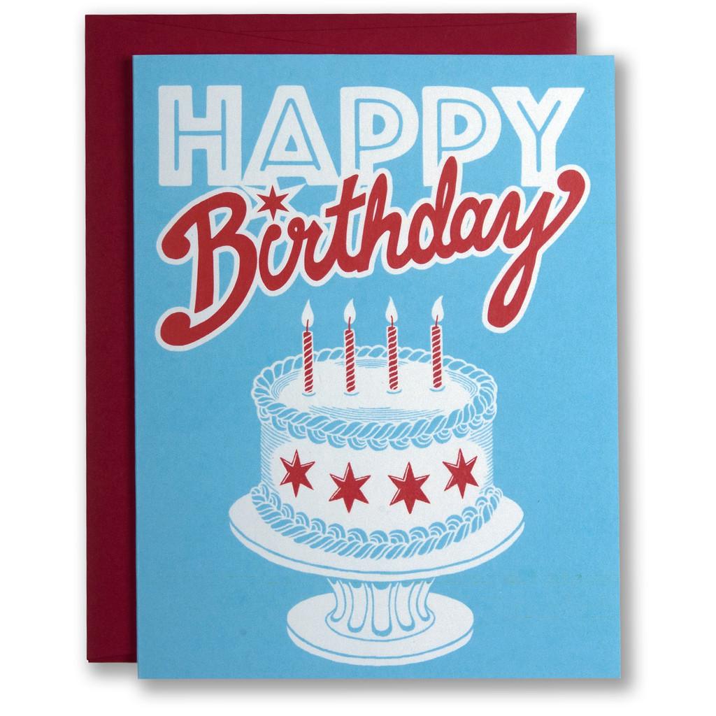 Chicago Birthday Cake - Greeting Card