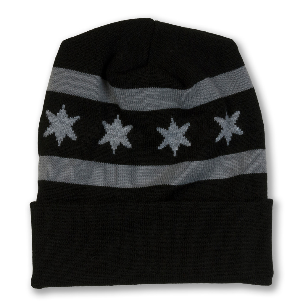 Chicago Flag Knit Beanie