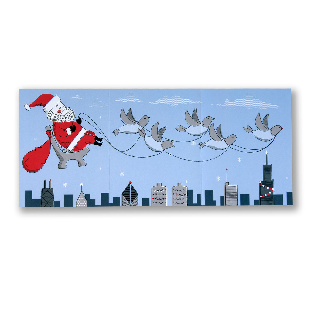 Swanky Santa Holiday Card