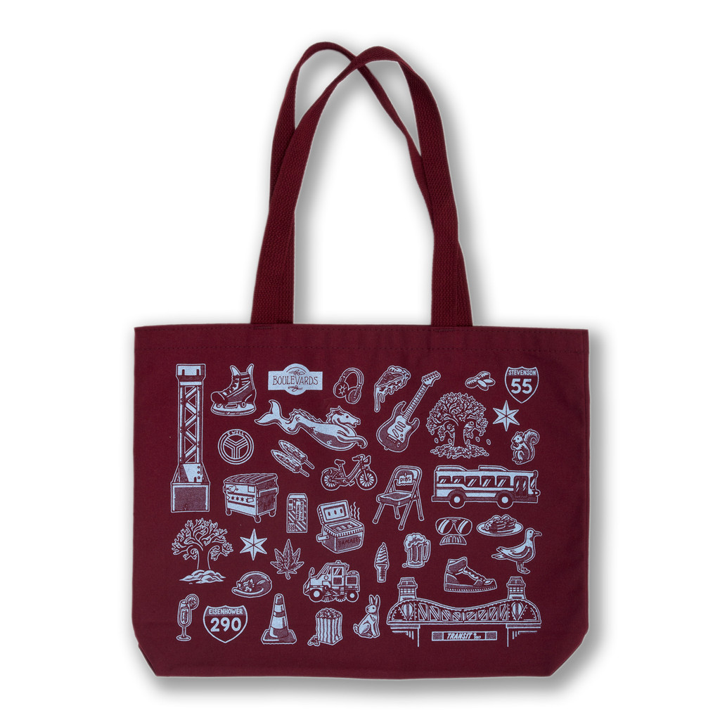 Chicago Icons Tote Bag