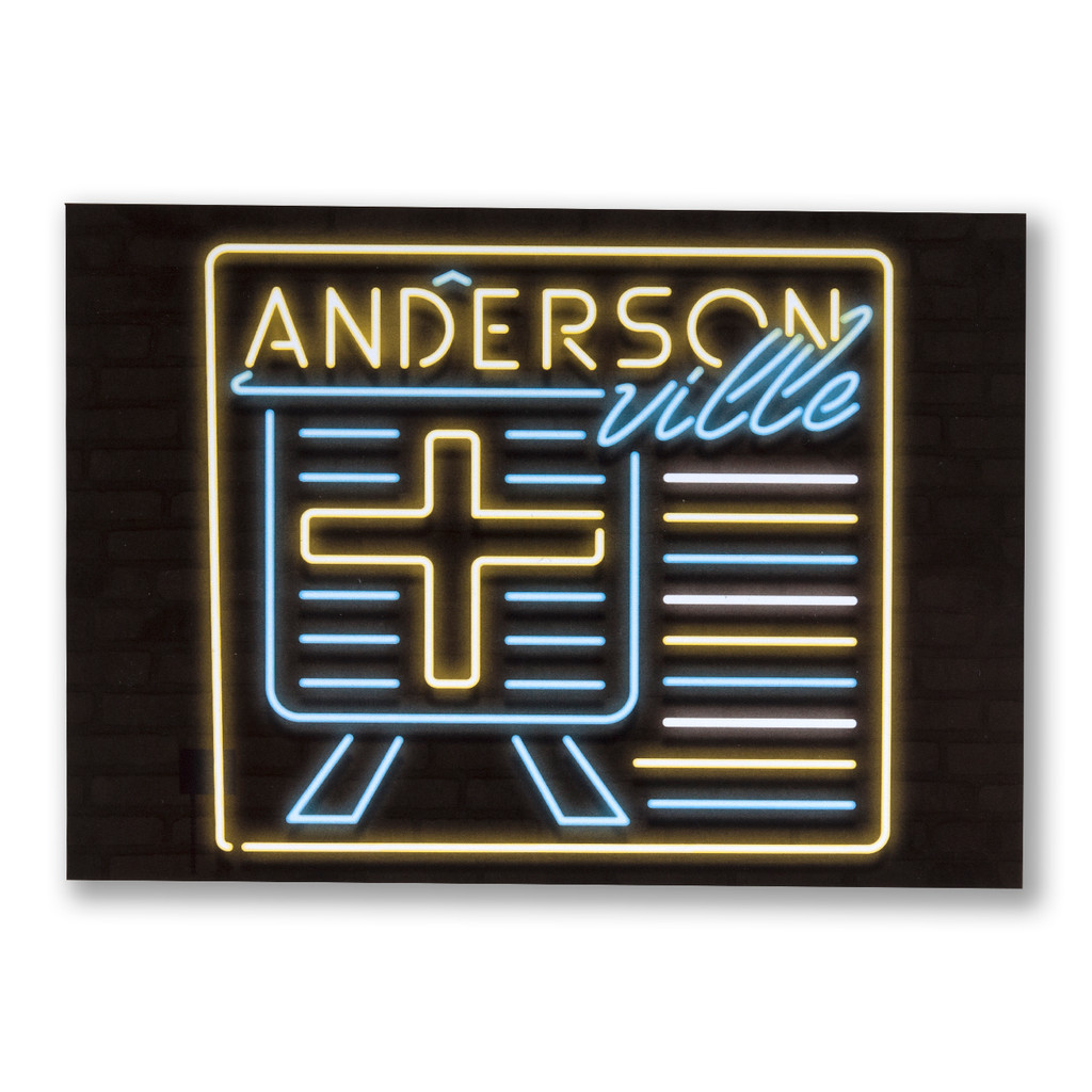 Andersonville Neon Neighborhood Postcard