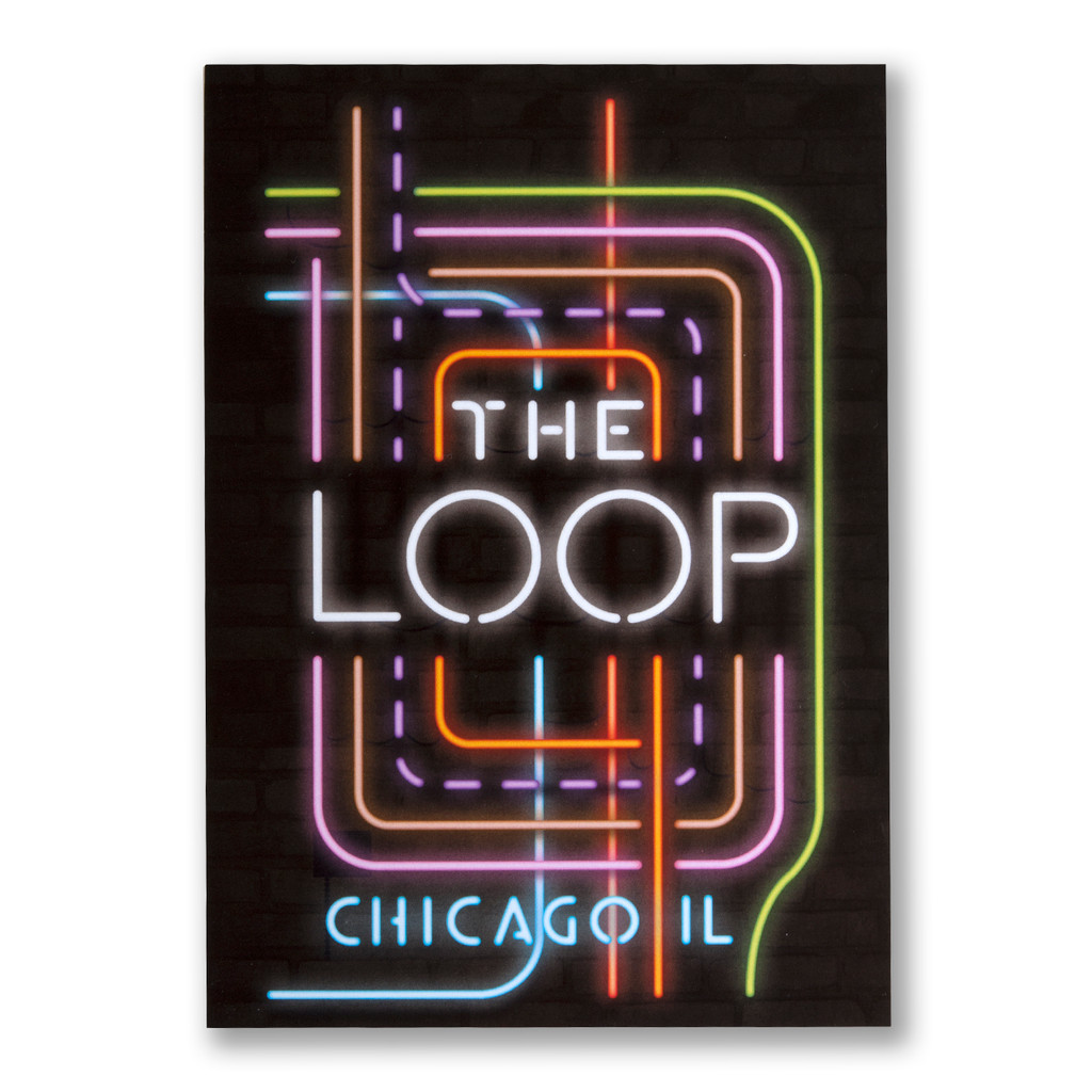 The Loop Neon Neighborhood Postcard