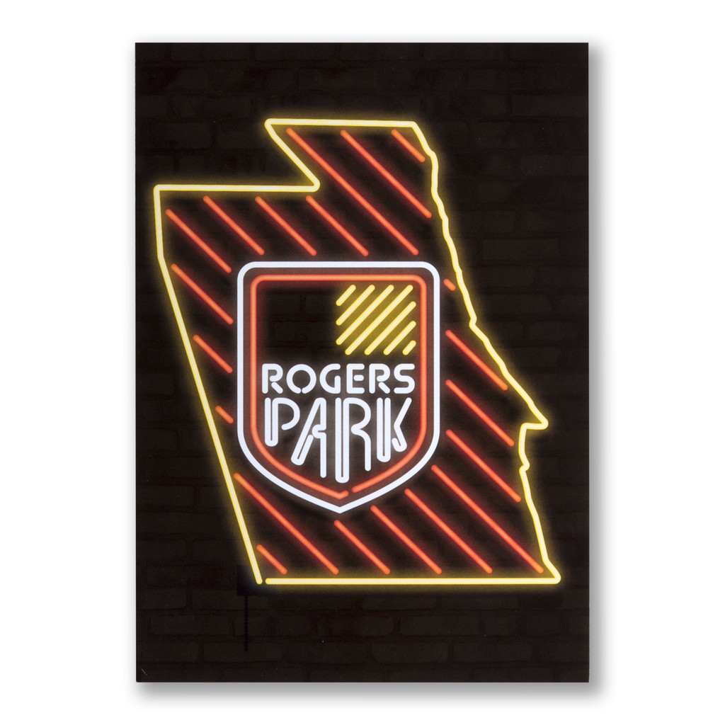 Rogers Park Neon Neighborhood Postcard
