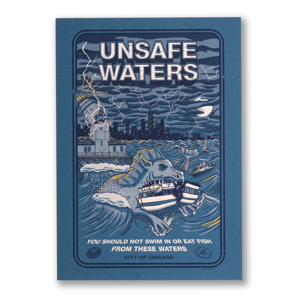 Unsafe Waters Postcard
