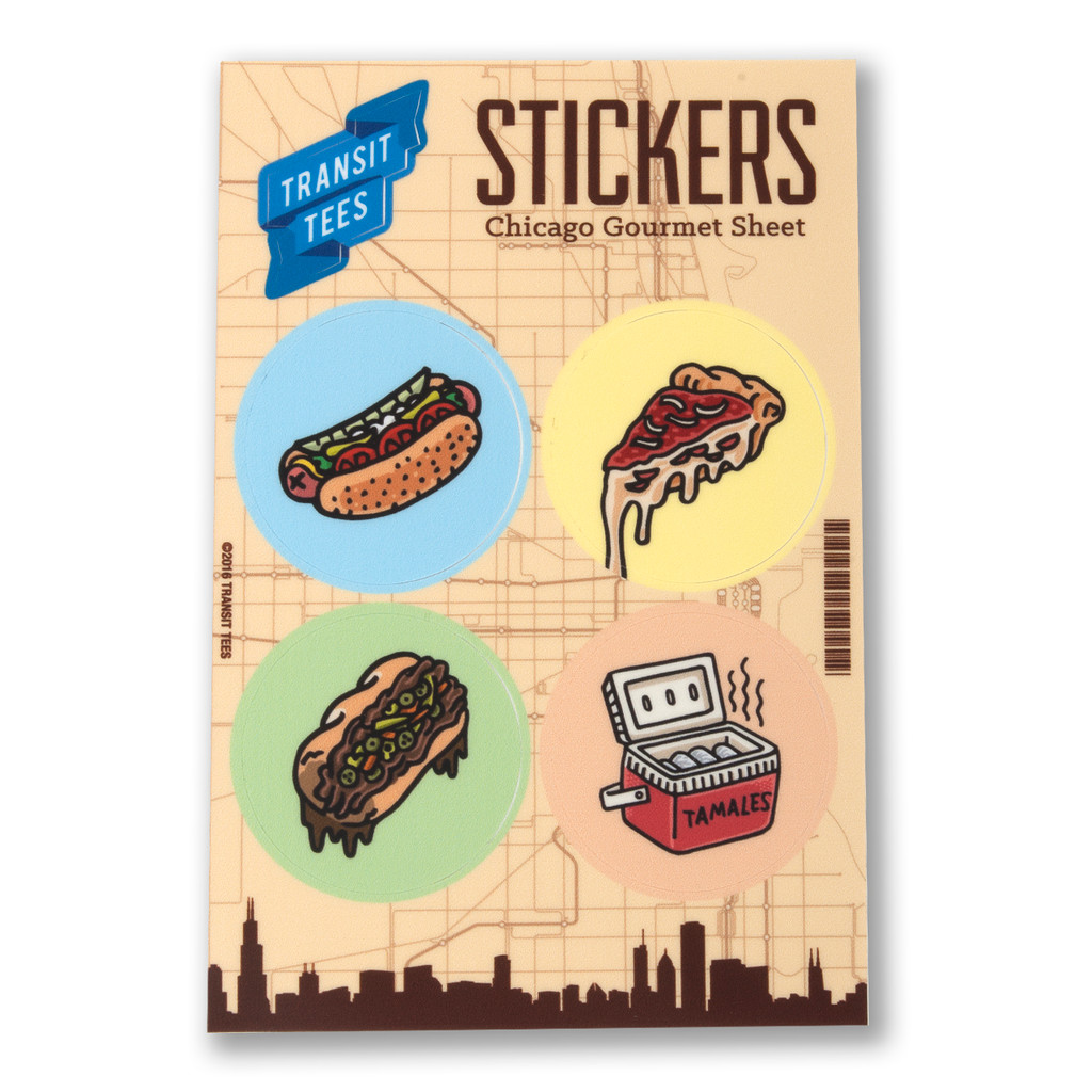 Chicago Gourmet Sticker Sheet