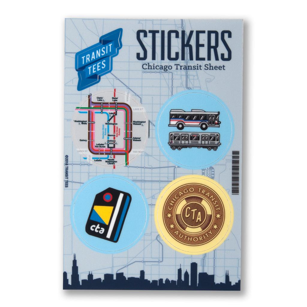 Chicago Transit Sticker Sheet