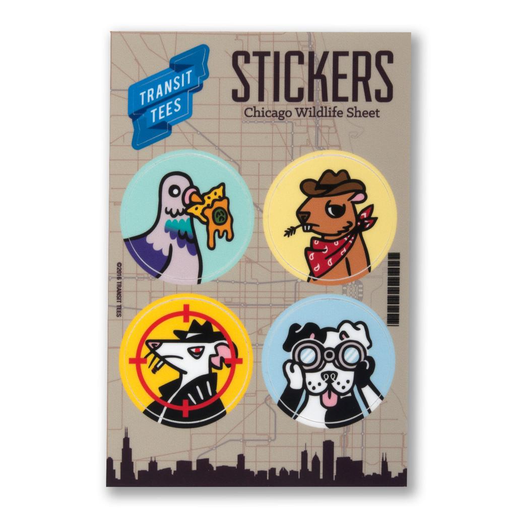 Chicago Wildlife Sticker Sheet