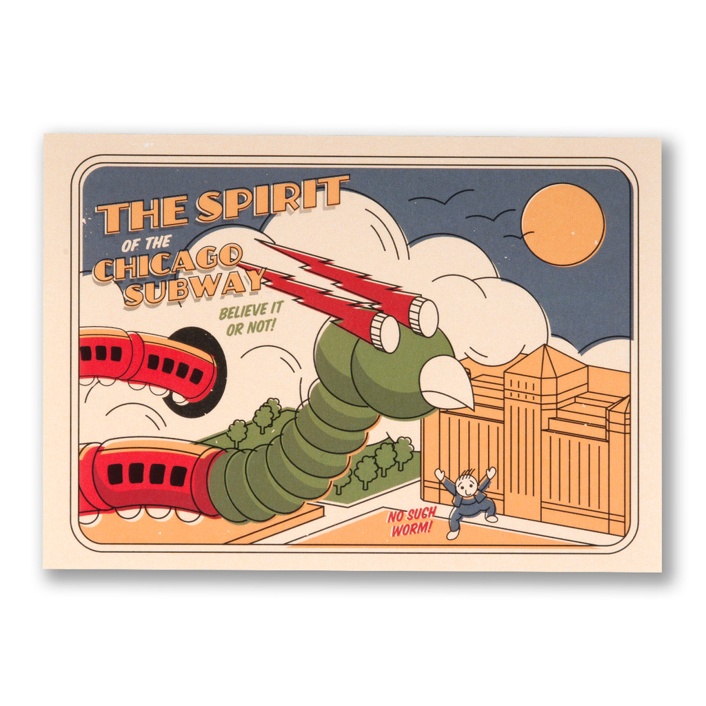 Worm of the Subway Postcard