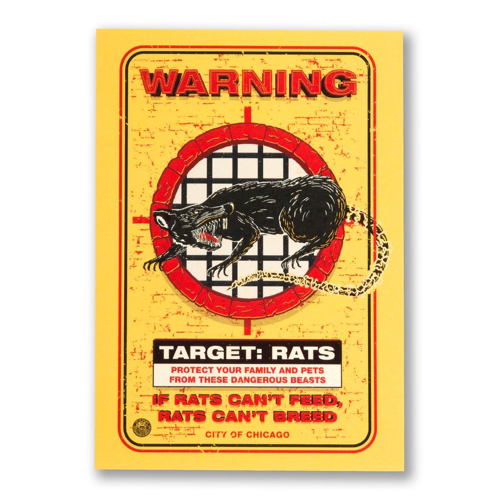 Target Rat Postcard