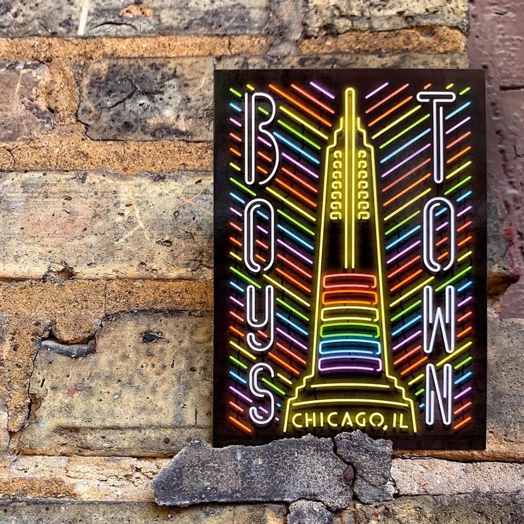 Boystown Neon Neighborhood Postcard