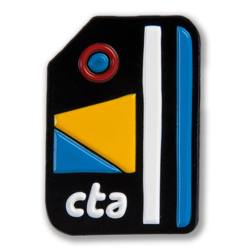 Transit Card Icon Enamel Pin