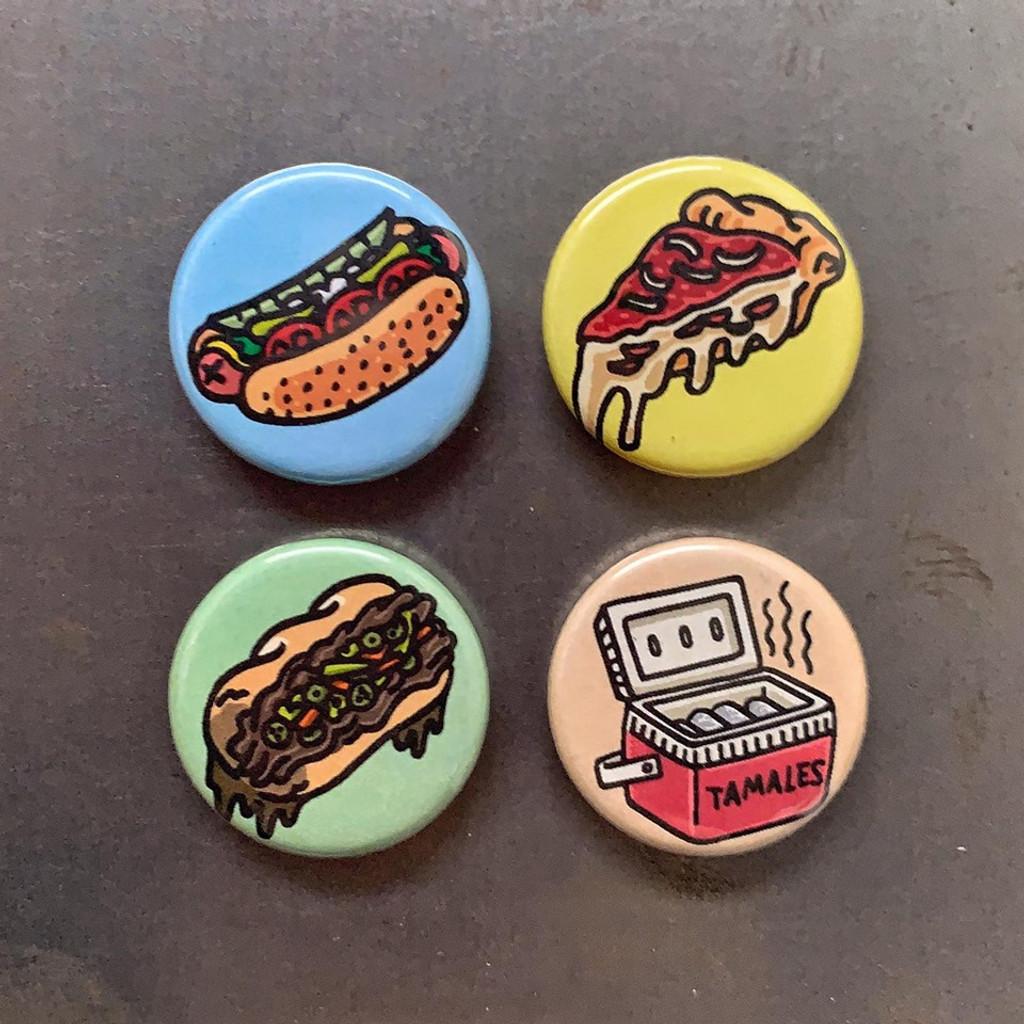 Chicago Foodie Round Magnet Pack