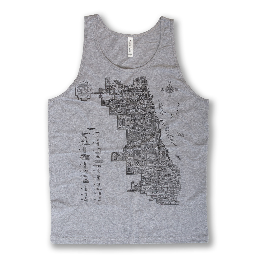 Neon Neighborhood Map Tank - Men's