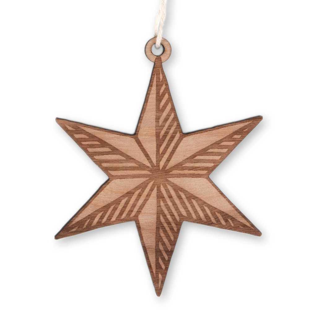 Chicago Star Wood Ornament