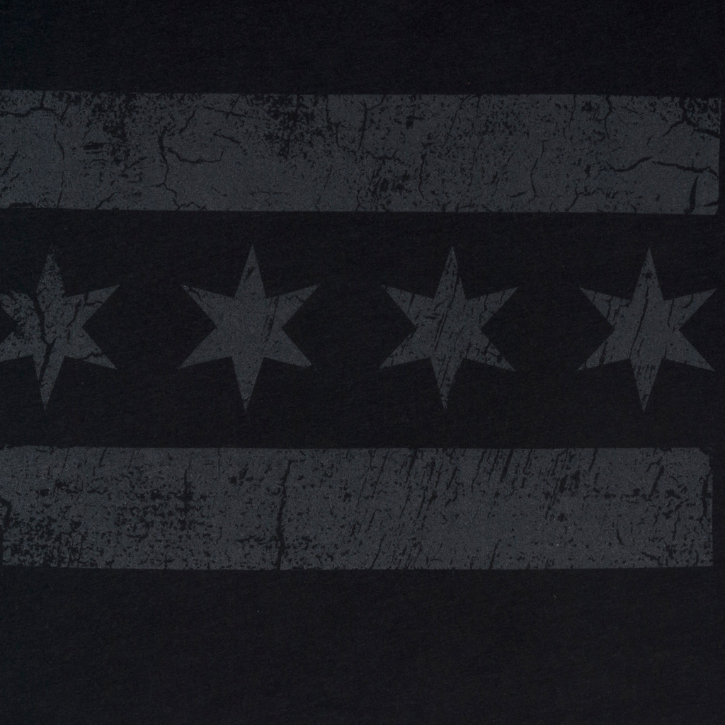 Greyscale Chicago Flag Tee - Men's