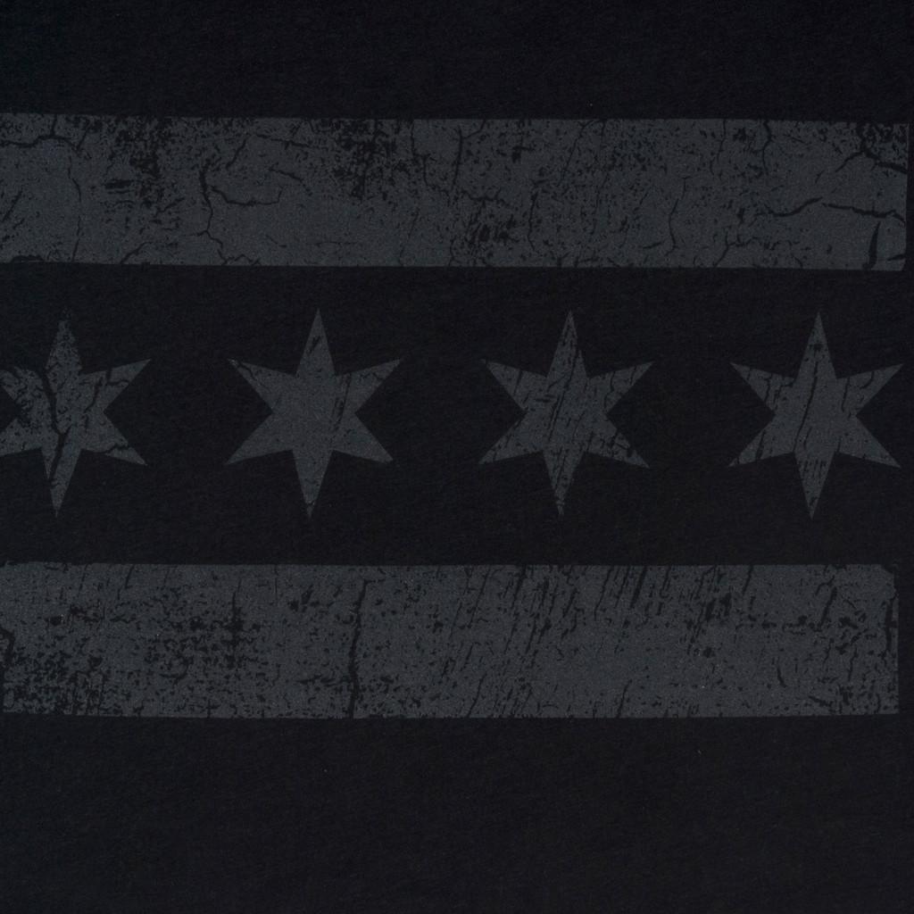 Greyscale Chicago Flag Tee - Women's