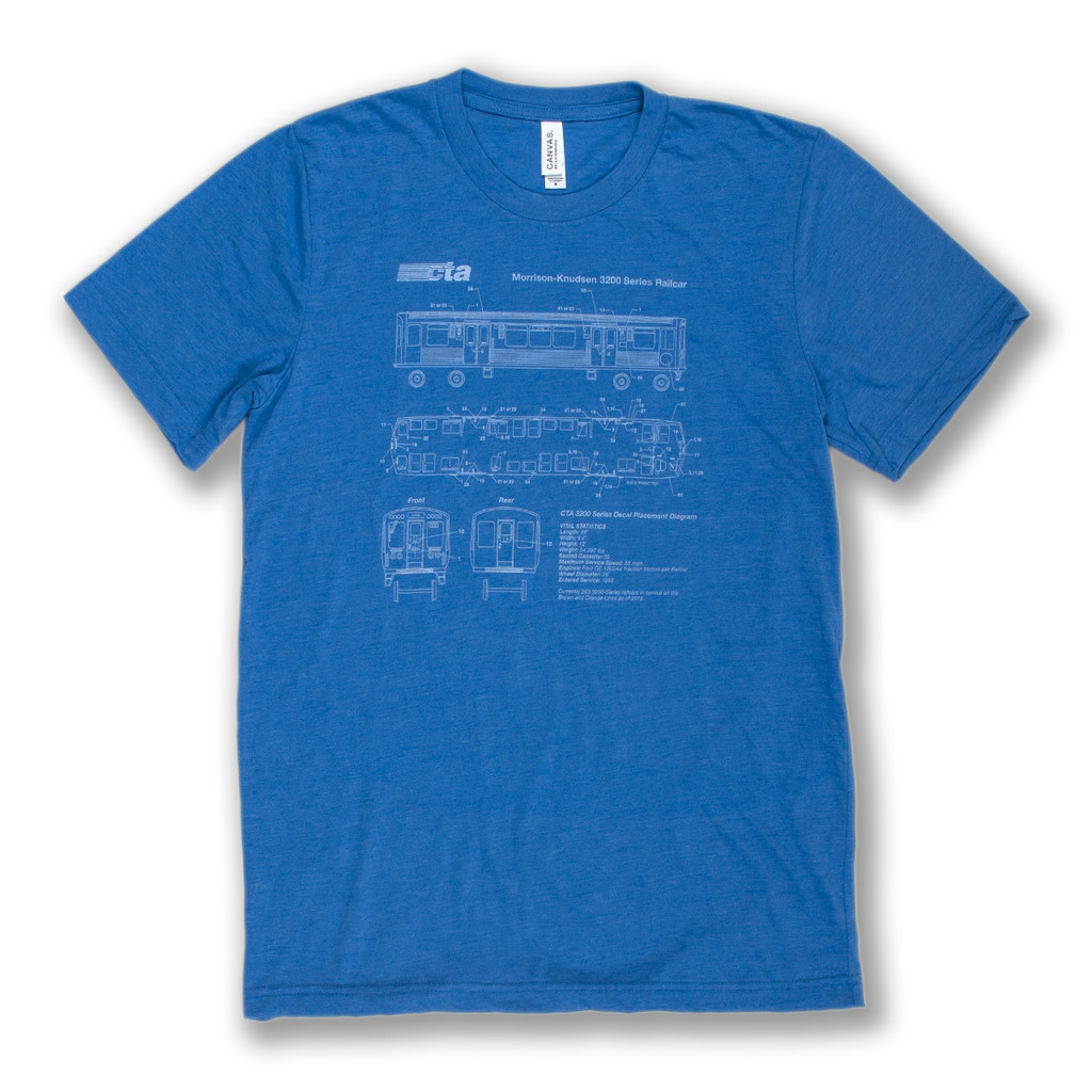 El Train Blueprint Schematic Tee - Men's