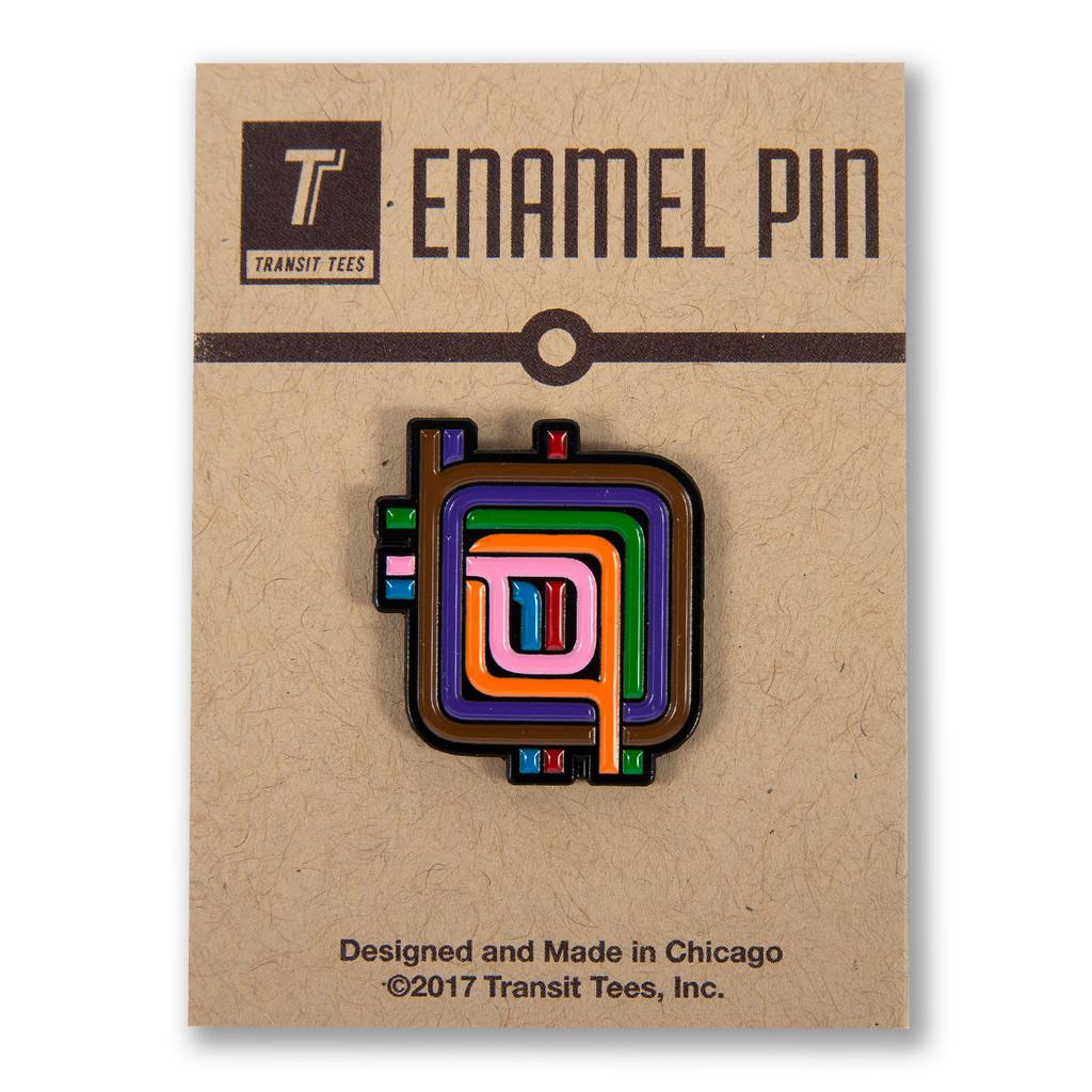 Loop Stripe Enamel Pin