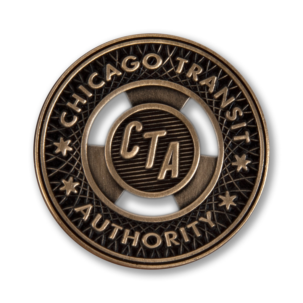 CTA Brass Token Enamel Pin