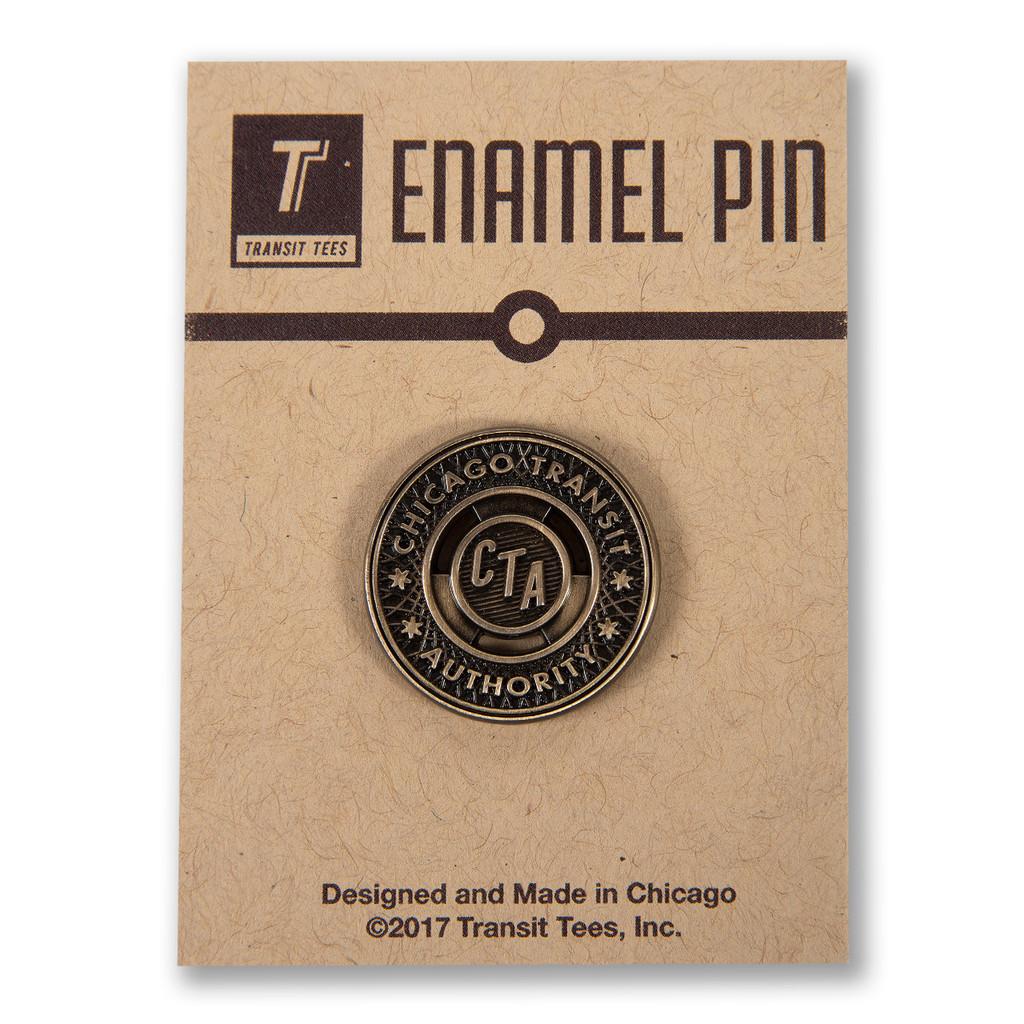 CTA Brass Token Enamel Pin
